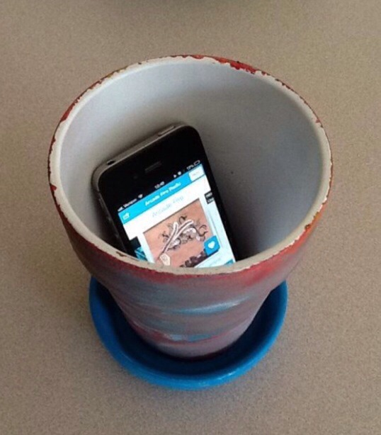 Place your phone into a bowl or cup to make the sound louder!