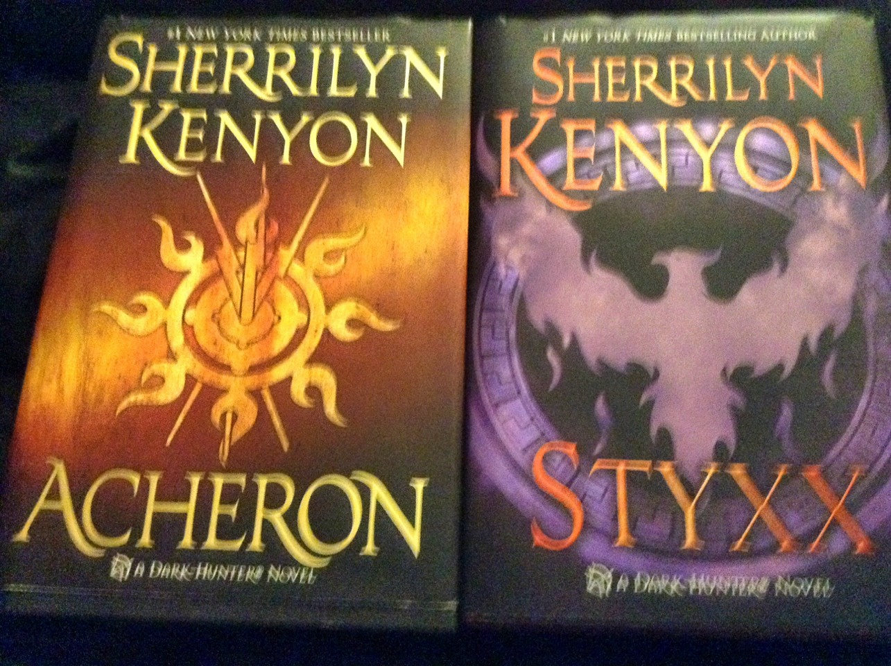 Dark hunter series by Sherrilyn Kenyon. These are my all time favourite books. There are tons of books in the series, mostly mushy romance, though I started with Acheron and understood fine. They're dark in nature, about twins with a brutal past. Read Acheron first, you'll get a lot more out of it.
