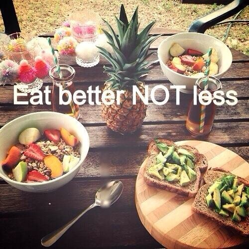 Eat a healthy breakfast!  It's about quality, not quantity!