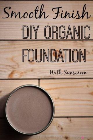 DIY Foundation  http://www.scratchmommy.com/smooth-finish-diy-organic-foundation-sunscreen/