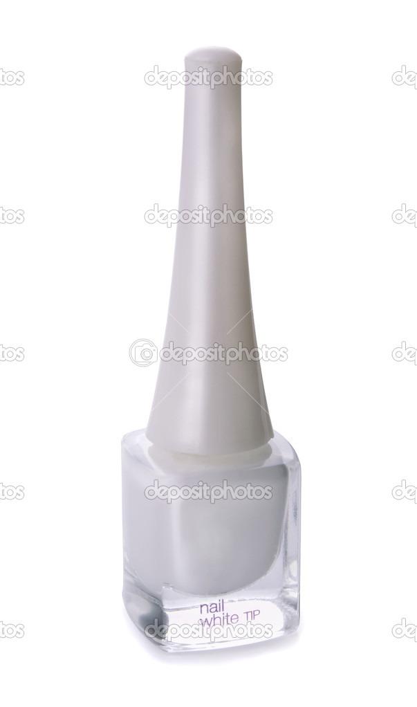 One thin coat white/ light nail polish