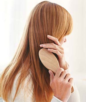 Don't over-brush! You actually damage your hair by brushing it too much!