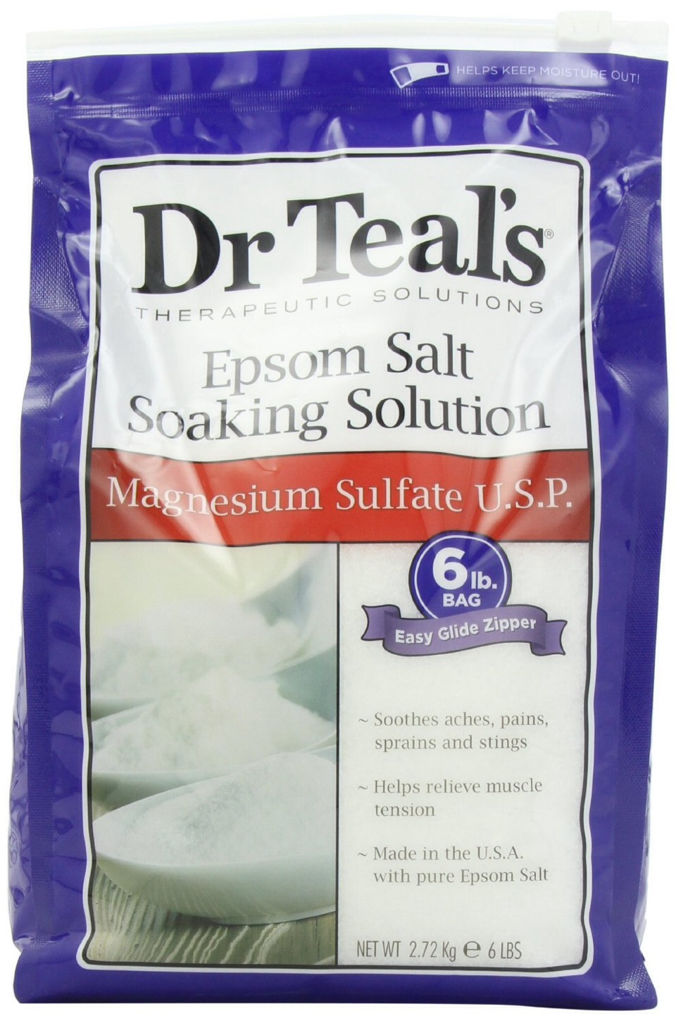 3. Hair volumizer — Combine equal parts conditioner and Epsom salt. Work the mixture through your hair and leave for 20 minutes. The result? Hair full of va-va-voom and volume! 4. Facial scrub — This is one of my favorite Epsom salt uses. Mix 1/2 tsp of Epsom salt with your favorite cleanser