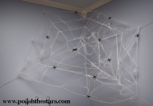 Clean the cob webs down from the corners of your rooms. It's unattractive, unless it's Halloween.