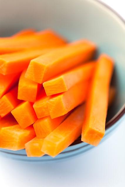 7) carrot sticks are always a good choice!