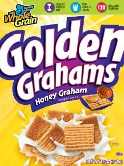 5 cups of golden Grahams cereal