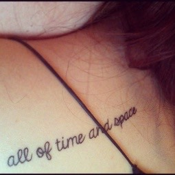 All of time and space tat