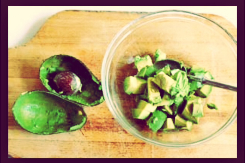 The perfect product of cutting an avocado the right way!