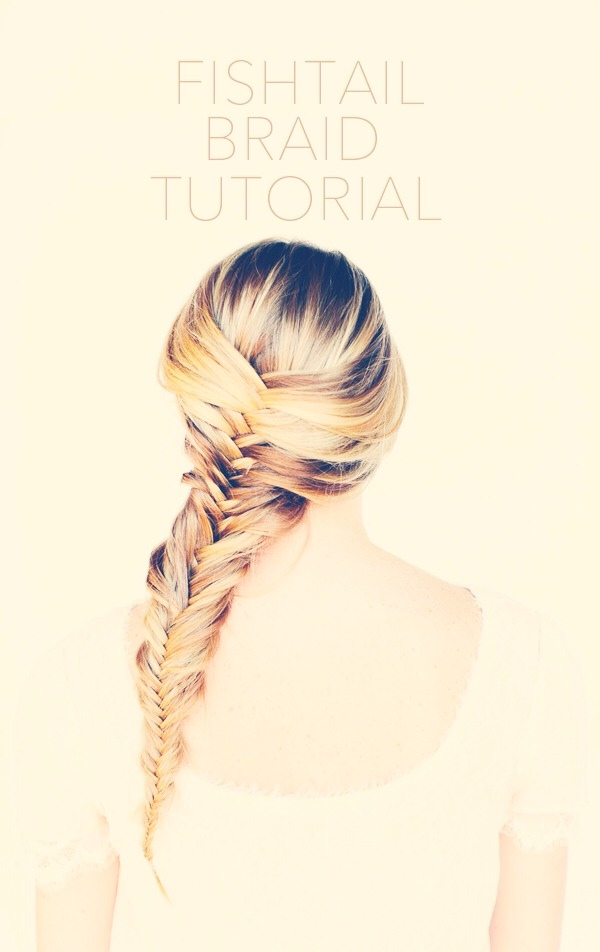 First wash your hair or have your hair wet. Then separate into how many fish tail plaits you would like. Advisable is three. Then...