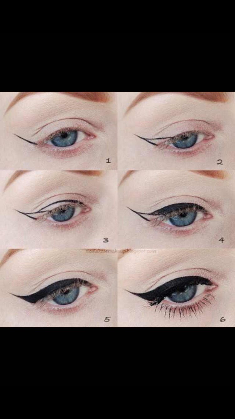 Pin-up eyeliner look