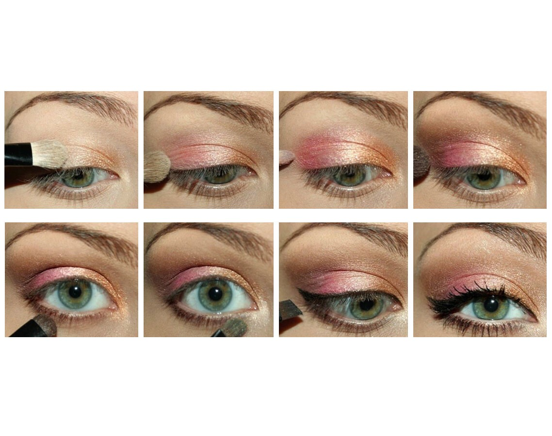 Musely switch things up with this pink and orange shimmer look this tutorial from my makeup ideas is sure to make any eye pop you can find the perfect shades baditri Images