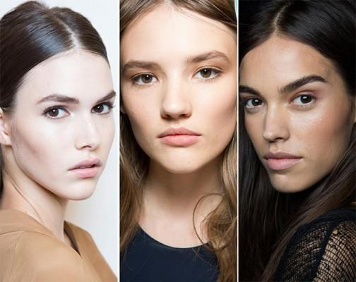This year the hairstyle and makeup is all about natural looking.