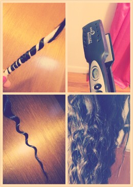 First: Wrap hair around a pencil Second: Grab Straightiner and hold it on the pencil and heat about 10 going down Third: well no third but it should look curly😊 if not you can hold the staightiner on longer and see the results after you try this  Hope you make this hair thing useful