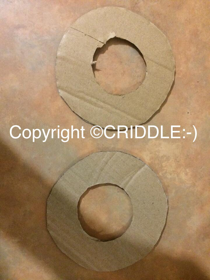 Cut out 2 cardboard rings