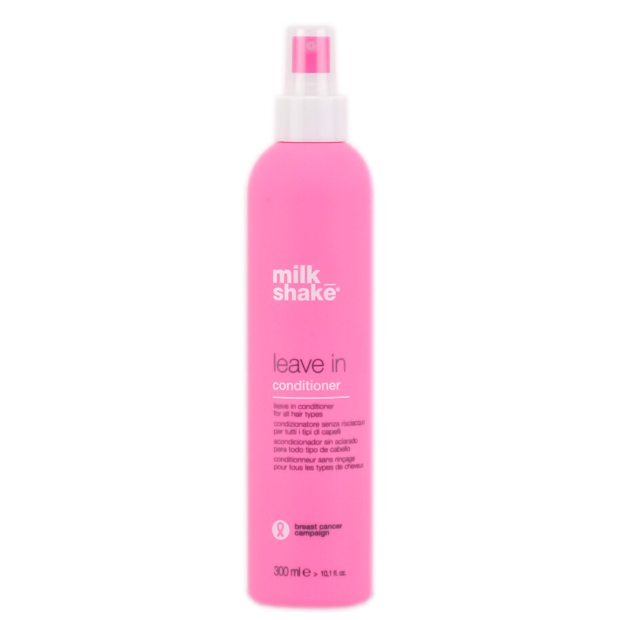 Milk Shake Leave In Conditioner Spray: It generates optimum inner hair moisture balance and outer hair protection. The milk proteins and fruit extracts help to revitalize and improve shine whilst the added Integrity 41 and vitamin E seal in the hair colour.