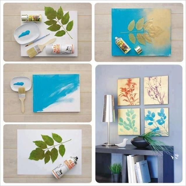 DIY Beautiful Leaf Painting for You to Try