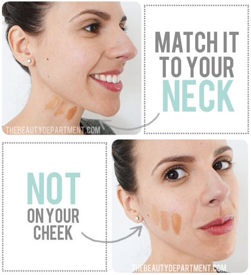 We all dread that our foundation will give us a ghost face or even worse, that dreaded orange jaw line. Because your neck isn't exposed to the sun as much as your face, it is much better for matching your true color.