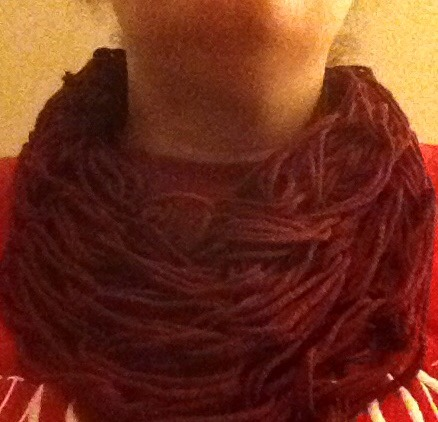 This is an infinity scarf I made