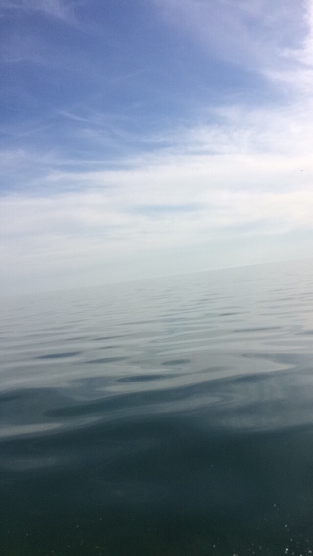 If you are on a boat, take a pic of the water that makes it look like infinity! (Also Lake Ontario)🇨🇦🐟