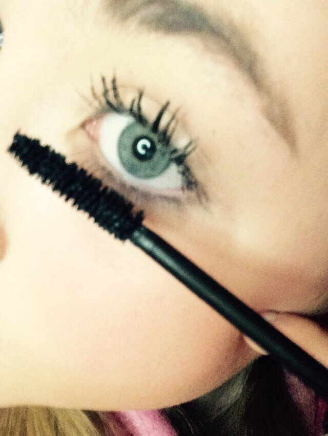 After that coat lashes as much as you want with mascara❤️