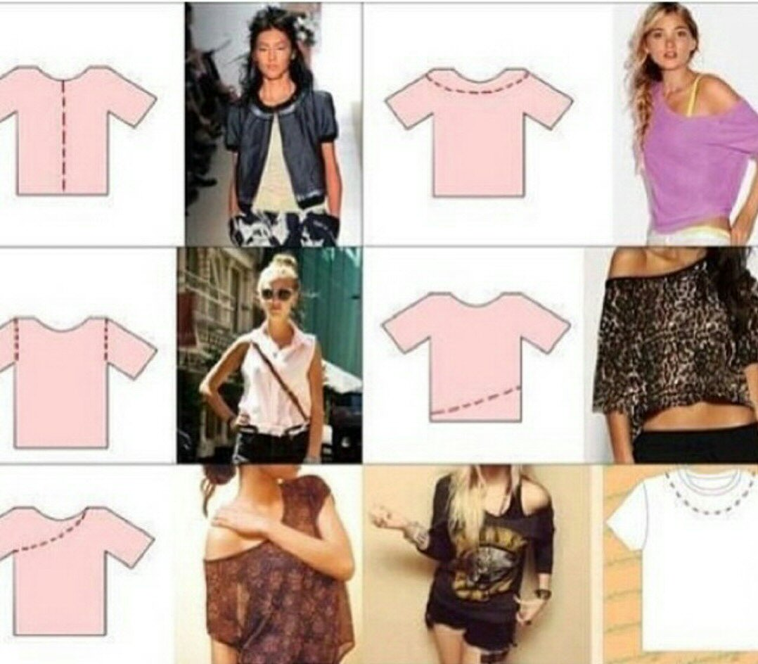 different ways to cut t shirts - T Shirt Design Ideas Cutting