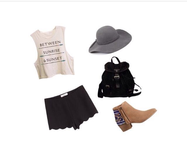 Shirt - elementbrand.com  Shorts - stylebop.com  Shoes - calypsostbarth.com  Bag - tradesy.com  Hat - Amazon.co.uk