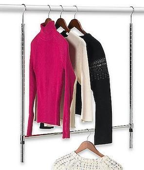 5) Double Hang Commercial Grade Closet Rod