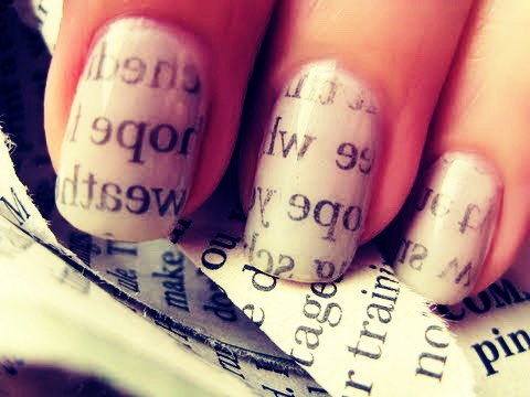 You need hot water, newspaper, scissors,nail polish any colour