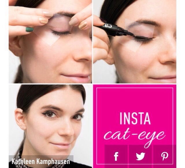 13. Use tape to create the perfect cat eye.