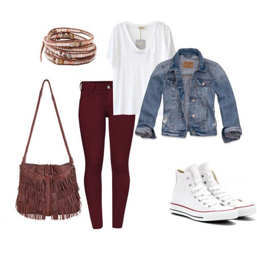 That edgy antique look matched with the perfect white converse is an amazing way to start of the school year