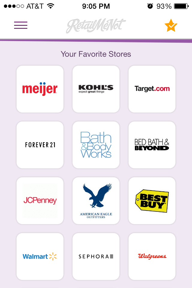 Lets you pick all of your favorite stores