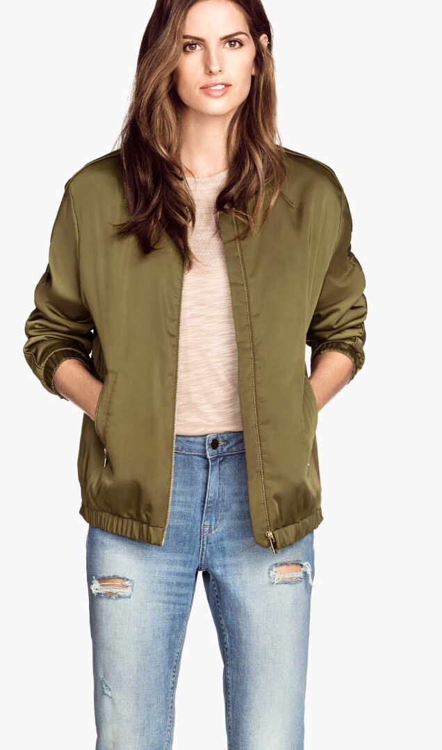 Obviously I love the bomber jacket for the colder weather. This one is from H&M is 49.95! Such a good find! And so affordable!