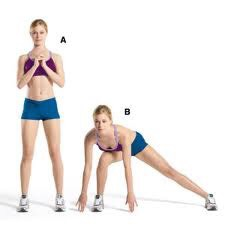 Side Lunges! They give the the same effect as lunges just more affect on different areas of the booty