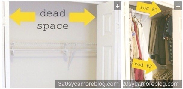 25. Use the sides of your closet to hang up more rods.