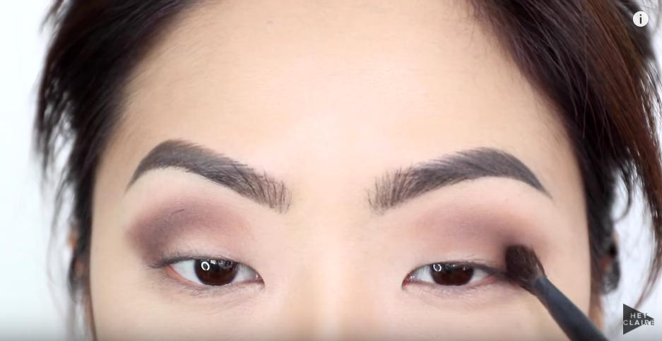 Next, put a black color even lower and closer to the lashline.