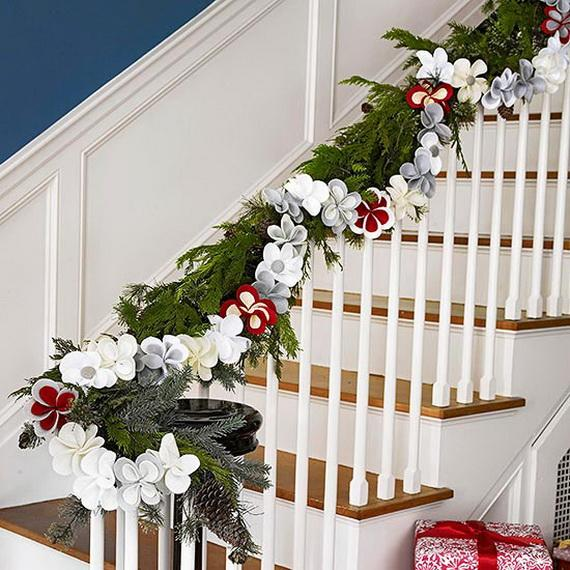 This is a very nice way to decorate the stairs. Easy and Pretty!