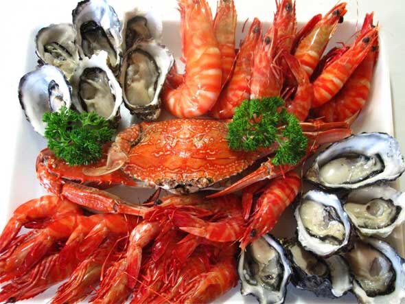 Certain seafood have been known to help boost sex hormones and promote the growth of breast tissue.