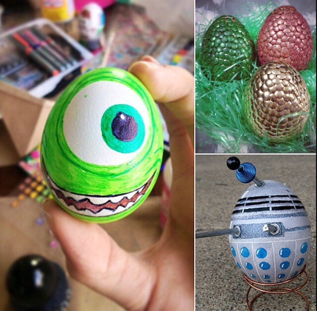 How about you make a cartoon character you like or make it look like a dragon egg