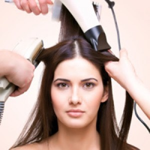 Using heat on your hair can damage it. It can cause frizz and can make your hair break more easily. Instead of using a curler or a straightener curl your hair without heat. Also let your hair air dry.