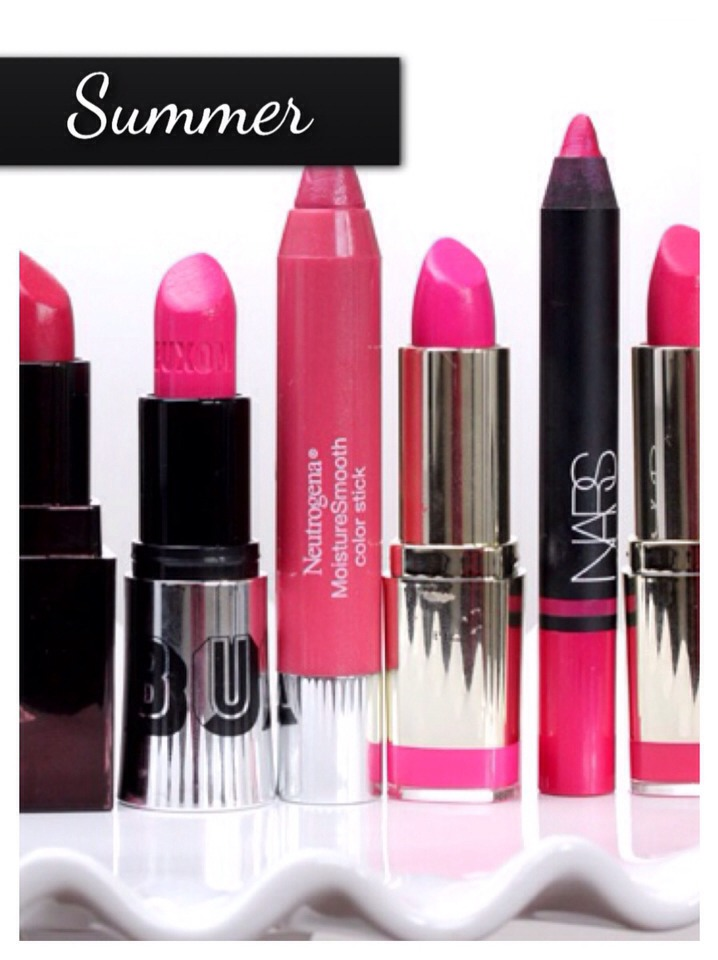 Pinks are VERY in for Summer. When the sun shines upon you, your Pink Vibrant, Soft, or pastel coloured lips will look absolutely AMAZING! Everything at Summer time with either be brightly coloured or Pastel Coloured. So this is the Perfect time of your to get all of your pink related makeup out!