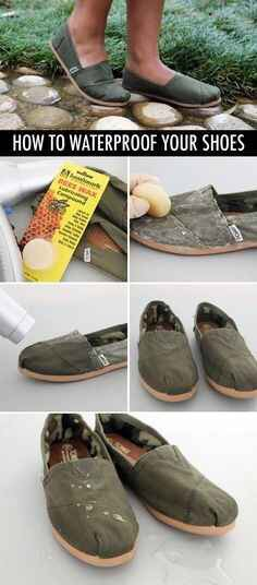 Use beeswax to waterproof your shoes