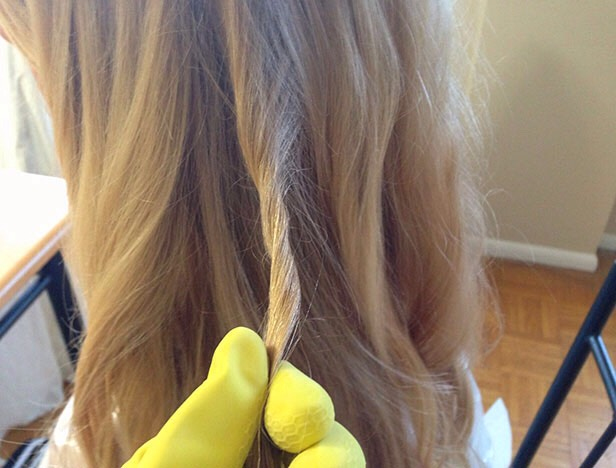 Twisting the hair:  This may seem weird but twisting the hair releases more pigment creating a more vibrant look!