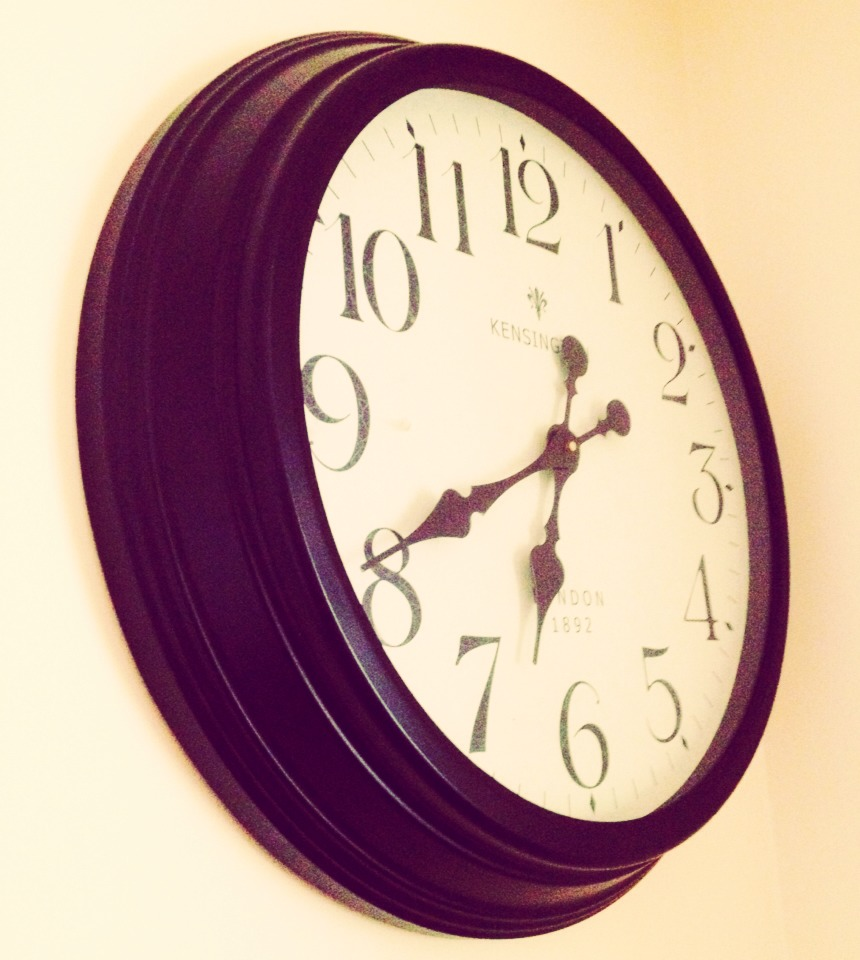 Always set time goals, this encourages you to do activities and things you need to do within a set time frame.
