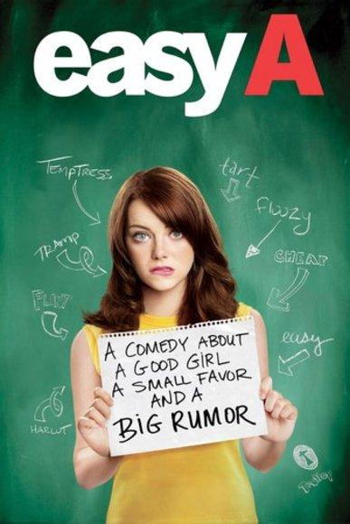 2.  Olive Penderghast is a nobody until a rumour gets out that she had sex with a college boy.  One her Bullied gay friends then asks her to sleep with her in order to keep himself from being bullied. she pretends to have sex but as rumour gets out about her favour her situation only gets worse.
