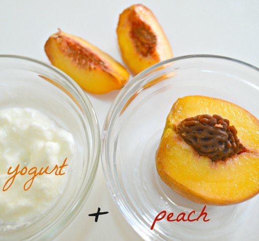 Mash up a peach and mix it with yogurt in order to make a hydration face mask that will leave the skin smooth and glowing
