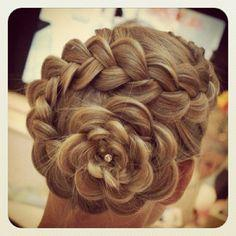 This is one of my favorite hairstyles, perfect for any ages and any special occasion.
