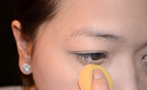 Use a damp makeup sponge to soften the lines between where you've removed excess foundation and the rest of your makeup.
