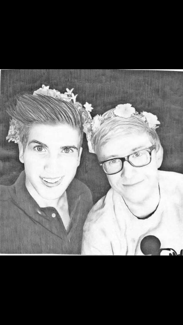Joey Graceffa and Tyler Oakley