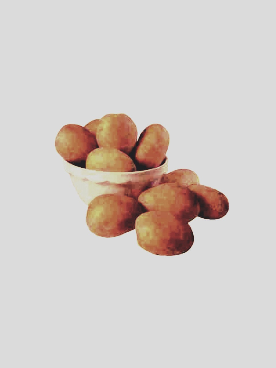 You cut a regular potato in half. Then you rub it into your face and leave it for 10 minutes. Then you wash your face with warm water and pat dry.  The potato absorb the oil on your skin and drys out your acne! 😮😄