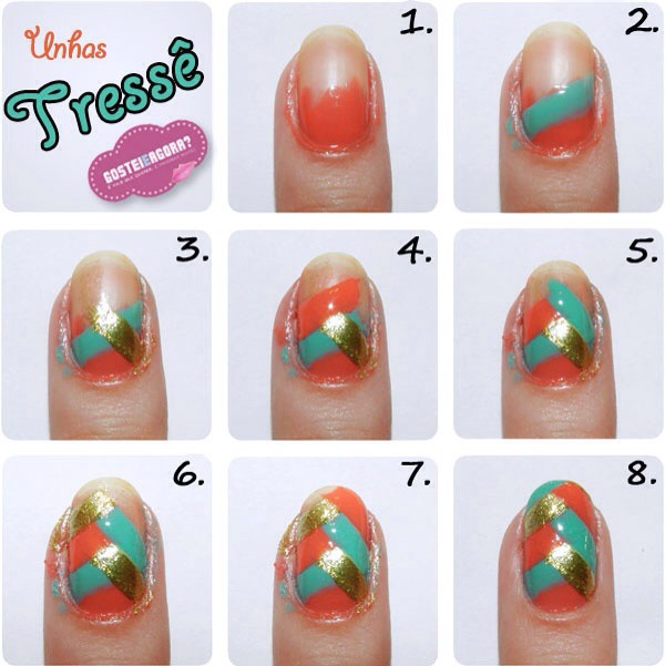 ☀Fresh Summer nail tutorial! 🎨Perfect colours for the warm  months following! 💅